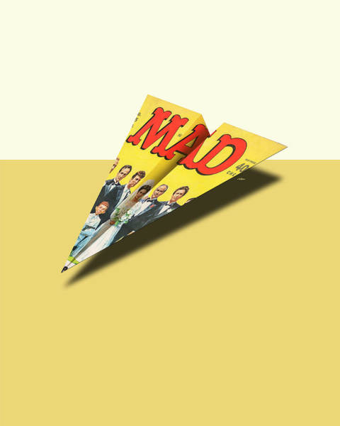 Parody Photograph - 155 Mad Paper Airplane by YoPedro