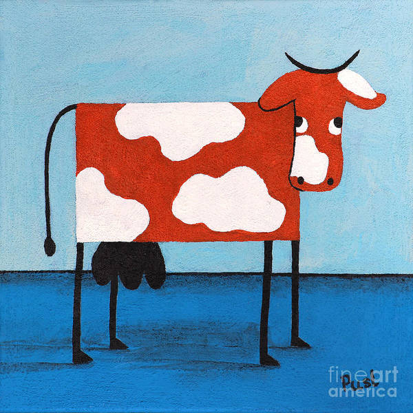 Wall Art - Painting - Madame Cow by Jutta Maria Pusl