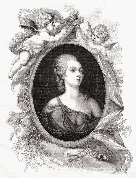 Wall Art - Drawing - Madame Du Barry, Jeanne B Cu, Comtesse by Vintage Design Pics