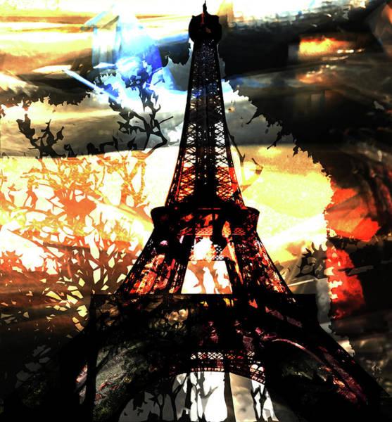Mixed Media - Paris Madame Eiffel by Bellanda