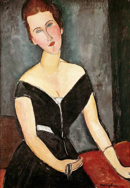 Oil Well Painting - Madame G Van Muyden by Amedeo Modigliani