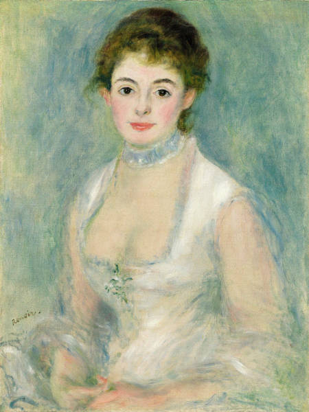 Camomile Painting - Madame Henriot, 1874 01 by Auguste Renoir