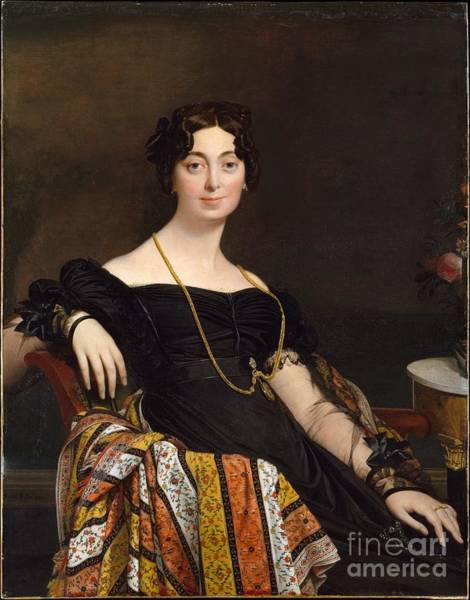 Wall Art - Painting - Madame Jacques-louis Leblanc by Celestial Images