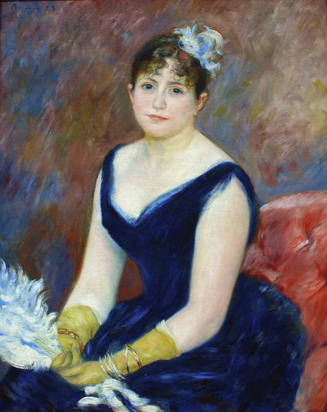 Camomile Painting - Madame Leon Clapisson Also Known As Marie Henriette Valentine Billet, 1883 by Auguste Renoir