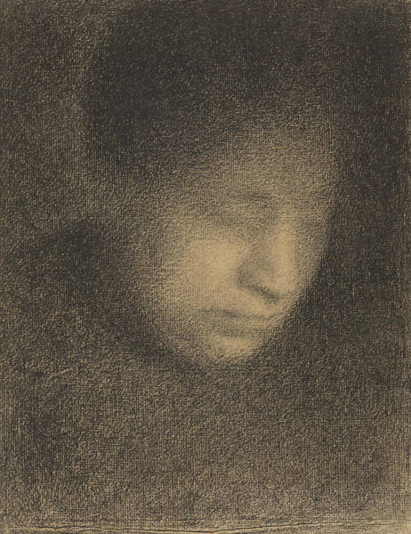 Drawing - Madame Seurat The Artists Mother by Georges-Pierre Seurat