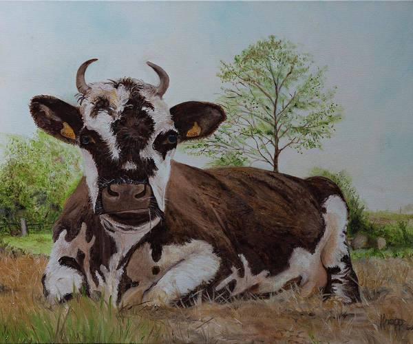 Painting - Madame Vache by Kathy Knopp