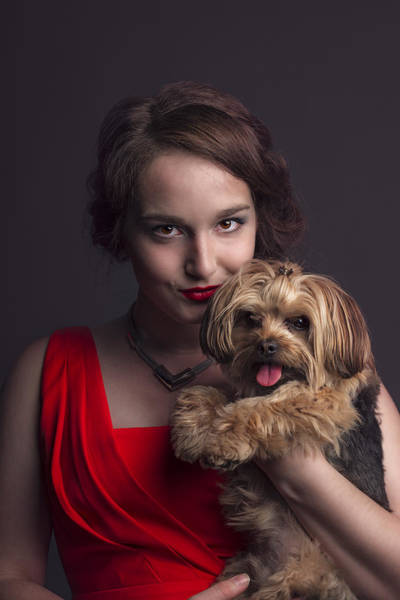 Photograph - Madame With Yorky  by Peter Lakomy