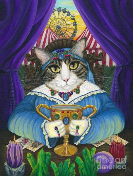 Madame Zoe Teller Of Fortunes - Queen Of Cups Art Print