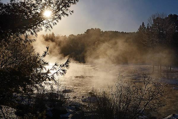 Madawaska River Sunrise Mist Art Print