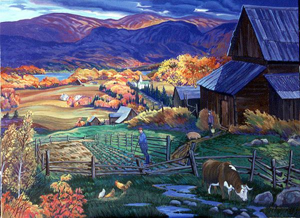 Wall Art - Painting - Madawaska Valley by Paul Gauthier