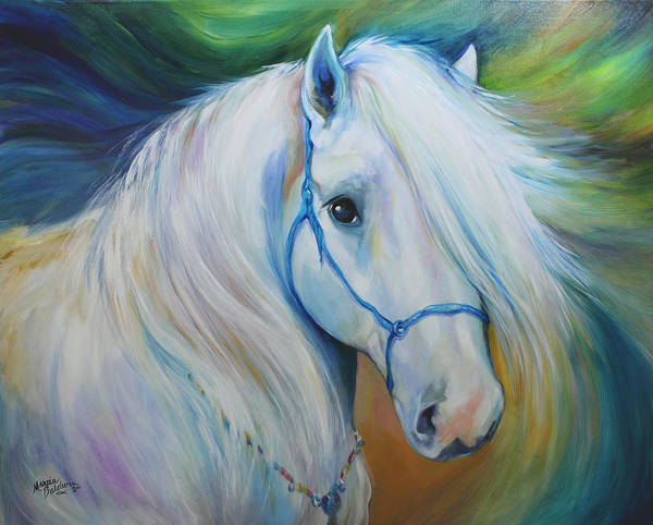 Wall Art - Painting - Maddie The Angel Horse by Marcia Baldwin