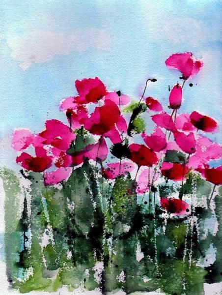 Maddy's Poppies Art Print