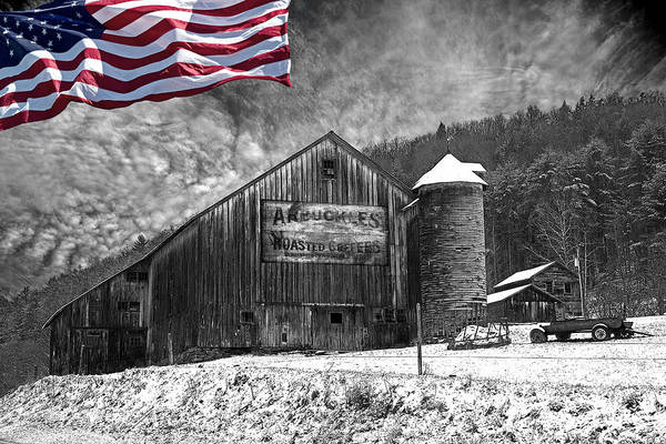 Wall Art - Photograph - Made In America Red White And Blue by John Stephens