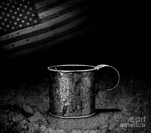 Wall Art - Photograph - Made In America Tin Cup by John Stephens