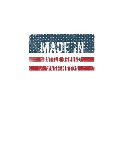 Wa Digital Art - Made In Battle Ground, Washington by Tinto Designs