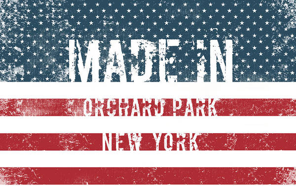 Orchard Digital Art - Made In Orchard Park, New York by Tinto Designs