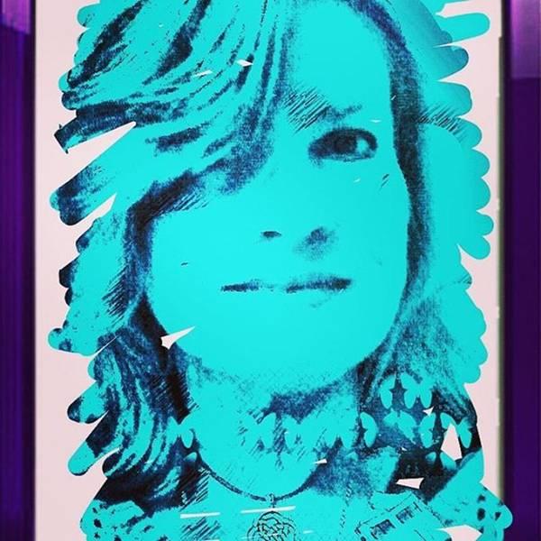 Portrait Photograph - Made This Digital Self Portrait by Genevieve Esson