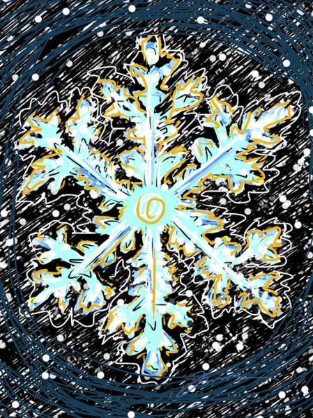 Painting - Madeline Snowflake by Jean Pacheco Ravinski