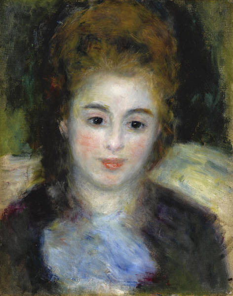 Wall Art - Painting - Mademoiselle Henriot Or Young Girl With A Blue Ribbon by Pierre-Auguste Renoir