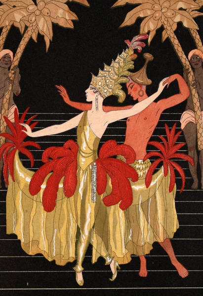The Dance Painting - Mademoiselle Sorel At The Grand Prix Ball by Georges Barbier