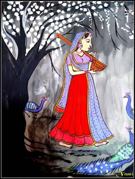 Madhubani-indian Miniature Art Print
