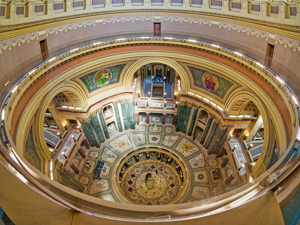 Photograph - Madison Capitol Rotunda by Steven Ralser