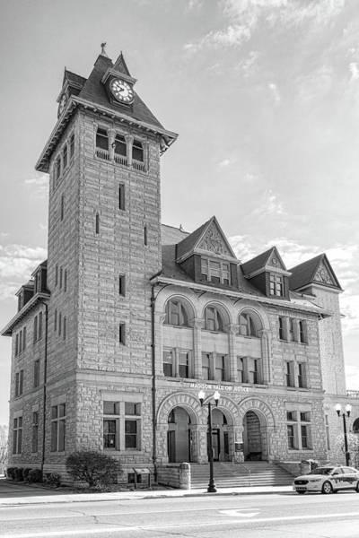Photograph - Madison Clock Tower by Sharon Popek