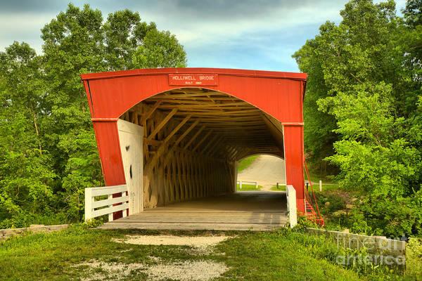 Photograph - Madison County Holliwell Bridge by Adam Jewell