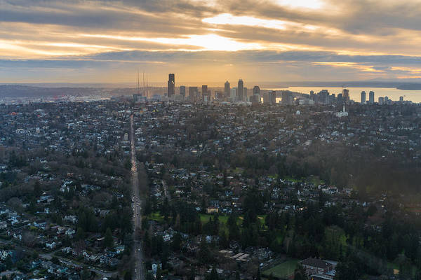 Pikes Place Photograph - Madison Park Towards The Seattle Skyline by Mike Reid