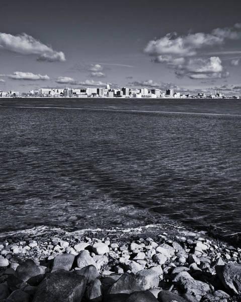 Photograph - Madison Skyline - Black And White by Steven Ralser