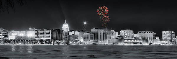 Photograph - Madison - Wisconsin - New Years Eve Fireworks 3 by Steven Ralser