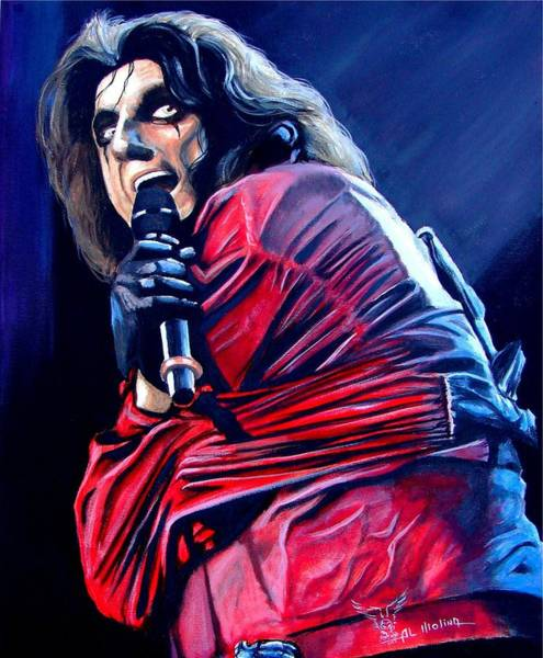 Alice Cooper Wall Art - Painting - Madman Alice II by Al  Molina