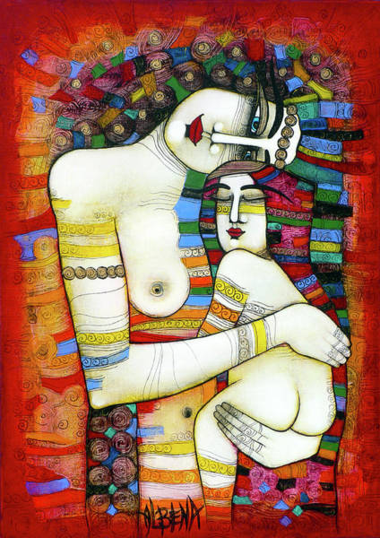 Wall Art - Painting - Madone - Hommage To Klimt by Albena Vatcheva