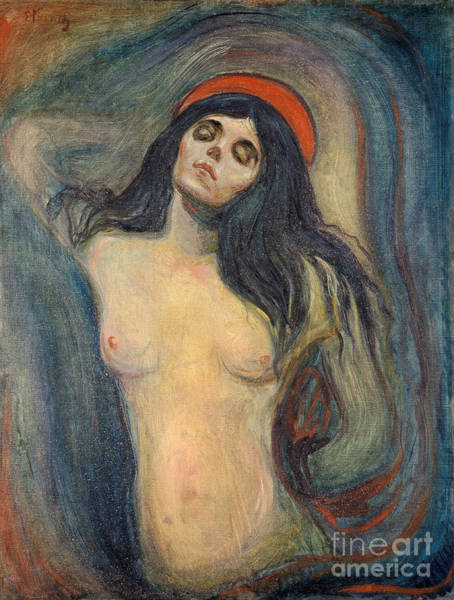 Subjective Wall Art - Painting - Madonna 1892-1895 By Edvard Munch by Art Anthology