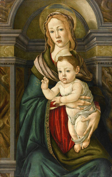 Botticelli Wall Art - Painting - Madonna And Child 2 by Botticelli and Studio