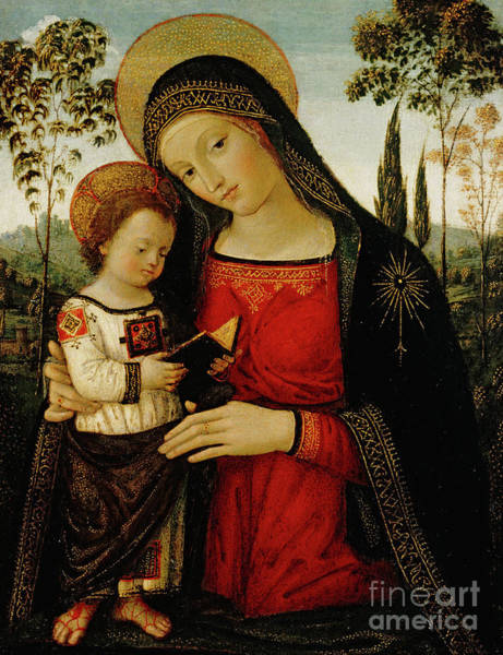Wall Art - Painting - Madonna And Child by Bernardino di Betto Pinturicchio