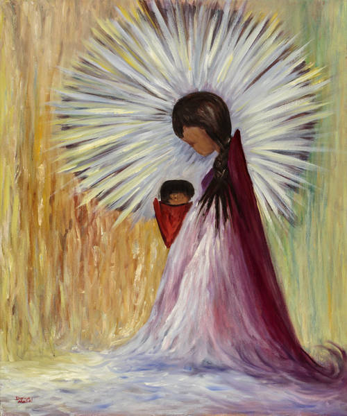 Painting - Madonna And Child by Darice Machel McGuire