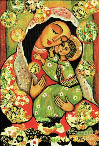 Divine Love Wall Art - Painting - Madonna And Child by Eva Campbell