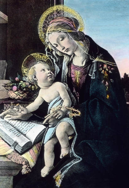 Madonna Drawing - Madonna And Child by German School