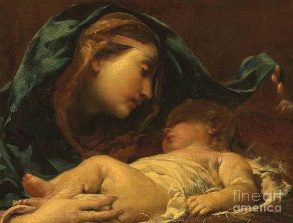 Wall Art - Painting - Madonna And Child by Giuseppe Maria Crespi