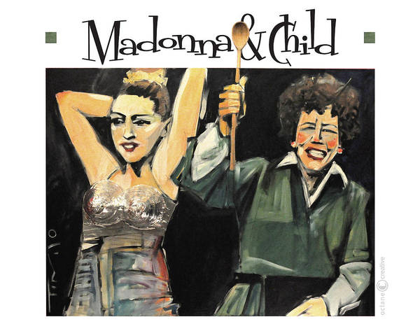 Painting - Madonna And Child Poster by Tim Nyberg