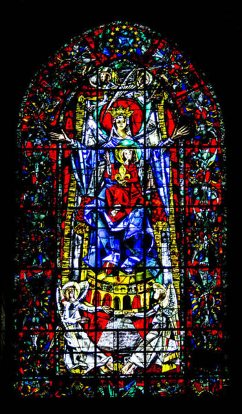 Wall Art - Photograph - Madonna And Child Stained Glass by Teresa Mucha