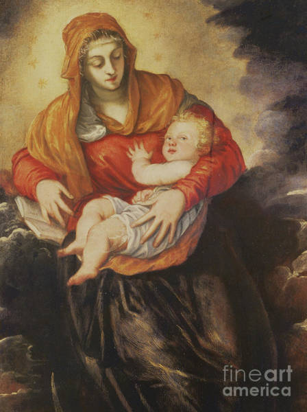 Wall Art - Painting - Madonna And Child by Tintoretto