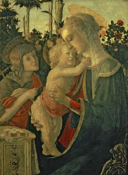 Sandro Botticelli Painting - Madonna And Child With St. John The Baptist by Sandro Botticelli