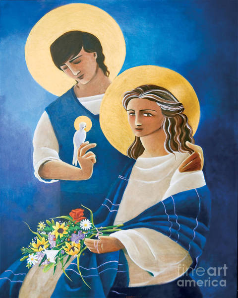 Painting - Madonna And Son - Mmmas by Br Mickey McGrath OSFS
