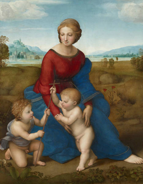 Painting - Madonna In The Meadow  by Raphael