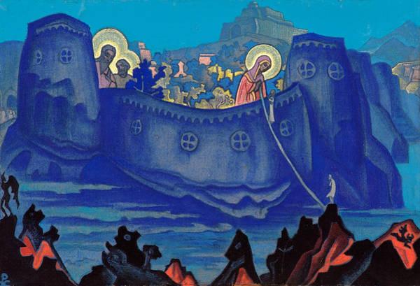 Metaphor Painting - Madonna Laboris, Sketch by Nicholas Roerich