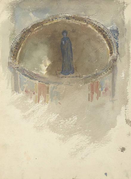 Drawing - Madonna, Mosaic, Saints Maria And Donato, Murano by John Singer Sargent