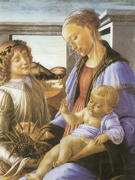 Sandro Botticelli Painting - Madonna Of The Eucharist by Sandro Botticelli