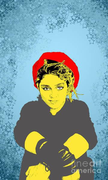 Virgin Digital Art - Madonna On Blue by Jason Tricktop Matthews
